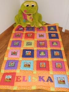 Žabičková deka pro Elišku