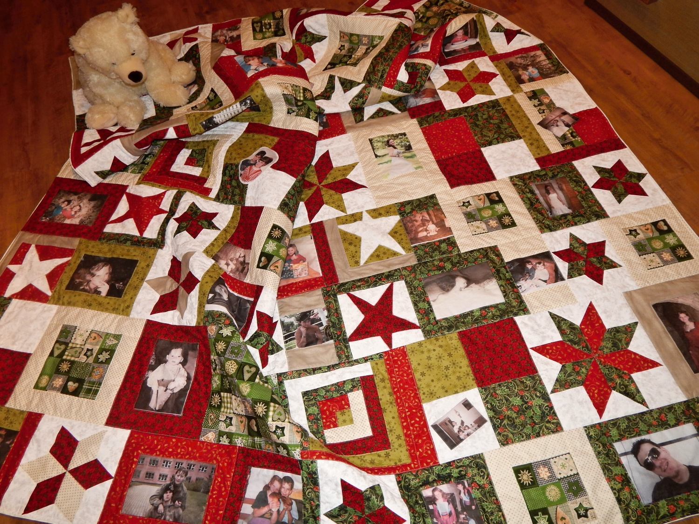 Vánoční přehoz s fotkami
