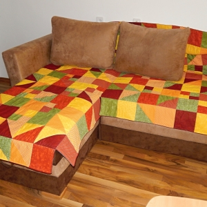 Přehoz na velký gauč