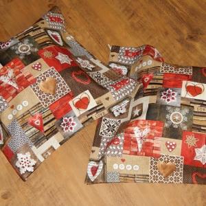 Povlaky z režné vánoční látky
