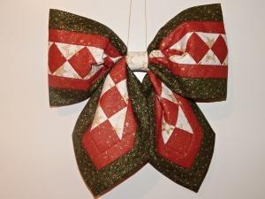 Vánoční mašle na dveře